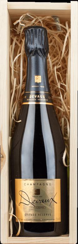 Champagner Devaux in Holzkiste