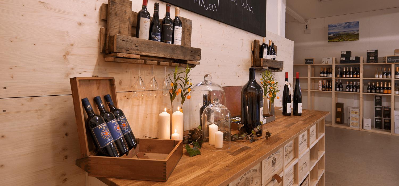 Verkostungseck Weinzentrale Biberach